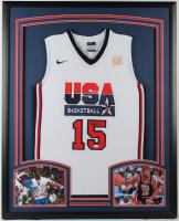 Magic Johnson Signed 34x42 Custom Framed Jersey Display (JSA Hologram) at PristineAuction.com