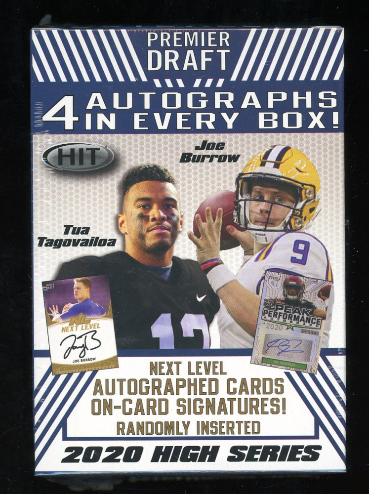 2020 Sage Hit High Series Football Blaster Box of (72) Cards at PristineAuction.com