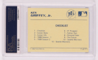 Ken Griffey Jr. Signed 1989 Star Griffey Jr. #1 Checklist (PSA Encapsulated) at PristineAuction.com