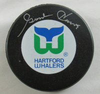 Gordie Howe Signed Whalers Logo Hockey Puck (JSA COA) at PristineAuction.com