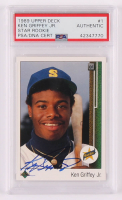 Ken Griffey Jr. Signed 1989 Upper Deck #1 RC (PSA Encapsulated) at PristineAuction.com