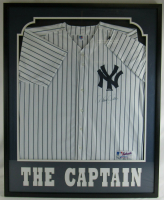 Derek Jeter Signed Yankees 33x42 Custom Framed Jersey Display (Steiner COA & MLB Hologram) at PristineAuction.com