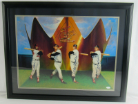 Mickey Mantle, Carl Yastrzemski & Frank Robinson Signed 24x30 Custom Framed Print Display (JSA LOA) at PristineAuction.com
