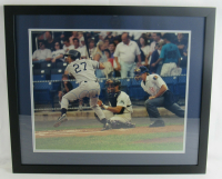 Derek Jeter Signed Yankees 22x26 Custom Framed Photo Display (JSA LOA) at PristineAuction.com