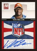 Von Miller 2011 Donruss Elite Rookie NFL Shield Autographs #12 at PristineAuction.com