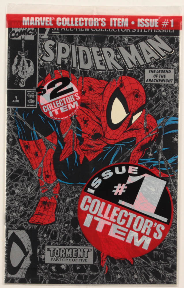 """1990 """"Spiderman"""" Issue #1Silver Marvel First Issue Comic Book at PristineAuction.com"""