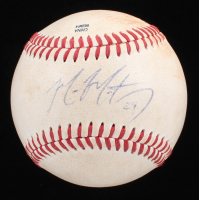 Mike Montgomery Signed PCL Baseball (JSA COA) at PristineAuction.com