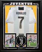 Cristiano Ronaldo Signed 34.5x42.5 Custom Framed Adidas Juventus Jersey (Beckett COA) at PristineAuction.com