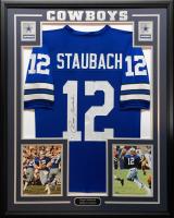 Roger Staubach Signed 34.5x42.5 Custom Framed Jersey (Beckett COA) at PristineAuction.com
