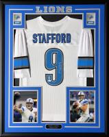 Matthew Stafford Signed 34.5x42.5 Custom Framed Jersey (Stafford Hologram & JSA COA) at PristineAuction.com