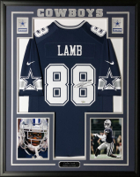 CeeDee Lamb Signed Cowboys 34.5x42.5 Custom Framed Nike Dallas Cowboys Jersey (Fanatics) at PristineAuction.com