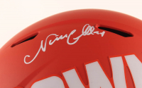 Nick Chubb Signed Browns Full-Size AMP Alternate Speed Helmet (Beckett COA) at PristineAuction.com