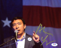 Andrew Yang Signed 8x10 Photo (PSA COA) at PristineAuction.com