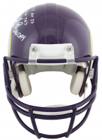 """Randy Moss, Cris Carter, & Adrian Peterson Signed Vikings Full-Size Authentic On-Field Helmet Inscribed """"All Day"""", """"Straight Cash Homie"""" & """"All I Do Is Catch TDs"""" (Beckett COA) at PristineAuction.com"""