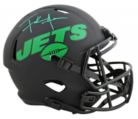 Frank Gore Signed Jets Eclipse Alternate Speed Full-Size Helmet (Beckett COA) at PristineAuction.com