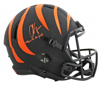 "Chad Johnson Signed Bengals Full-Size Eclipse Alternate Speed Helmet Inscribed ""Welcome To The Jungle"" (JSA COA) at PristineAuction.com"