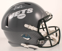 Vinny Testaverde Signed Jets Full-Size Hydro-Dipped Speed Helmet (JSA COA) at PristineAuction.com