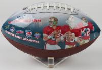 Deion Sanders Signed 49ers 100th Anniversary Art Football (Beckett COA) at PristineAuction.com
