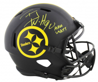"T.J. Watt Signed Steelers Full-Size Eclipse Alternate Speed Helmet Inscribed ""Mega Watt"" (JSA COA) at PristineAuction.com"