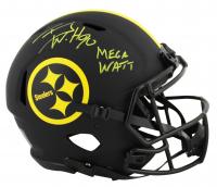 "T.J. Watt Signed Steelers Full-Size Authentic On-Field Speed Eclipse Helmet Inscribed ""Mega Watt"" (JSA COA) at PristineAuction.com"