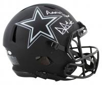 "Dak Prescott Signed Cowboys Full-Size Authentic On-Field Eclipse Alternate Speed Helmet Inscribed ""America's Team"" (Beckett COA & Prescott Hologram) at PristineAuction.com"