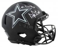 "Dak Prescott Signed Cowboys Full-Size Authentic On-Field Eclipse Alternate Speed Helmet Inscribed ""We Dem Boyz"" (Beckett COA & Prescott Hologram) at PristineAuction.com"