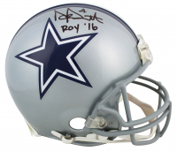 "Dak Prescott Signed Cowboys Full-Size Authentic On-Field Helmet Inscribed ""ROY '16"" (Prescott Hologram & Beckett COA) at PristineAuction.com"