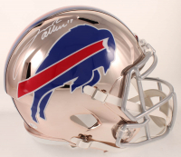 Josh Allen Signed Bills Full-Size Chrome Speed Helmet (Beckett COA) at PristineAuction.com