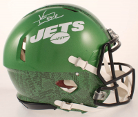 Vinny Testaverde Signed Jets Full-Size Full-Size Authentic On-Field Hydro-Dipped Speed Helmet (JSA COA) at PristineAuction.com