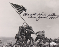 "Hershel ""Woody"" Williams Signed ""Raising the Flag on Iwo Jima"" 8x10 Photo Inscribed ""Iwo Jima 1945"" (JSA COA) at PristineAuction.com"