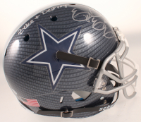 "Ezekiel Elliott Signed Cowboys Full-Size Authentic On-Field Hydro-Dipped Helmet Inscribed ""Zeke + Destroy"" (Beckett COA) at PristineAuction.com"