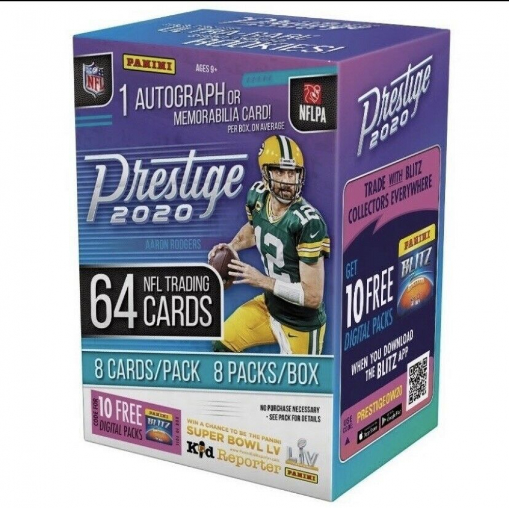 2020 Prestige Football Blaster Box with (8) Packs at PristineAuction.com