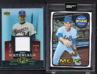 Lot of (2) Nolan Ryan Baseball Cards with 2020 Topps Project #87 (Project 2020 Encapsulated) & 2006 Upper Deck Epic Materials #EMNR3 Jersey Card at PristineAuction.com