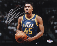 Donovan Mitchell Signed Jazz 8x10 Photo (PSA Hologram) at PristineAuction.com