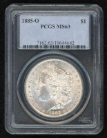 1885-O Morgan Silver Dollar (PCGS MS63) at PristineAuction.com