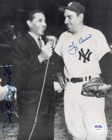 Phil Rizzuto & Yogi Berra Signed Yankees 7.5x9.25 Photo (PSA COA) at PristineAuction.com