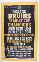 Bruins Stanley Cup Champions Logo 35x60 Flag at PristineAuction.com