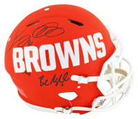 Baker Mayfield, Odell Beckham Jr. & Jarvis Landry Signed Browns Full-Size Authentic On-Field AMP Alternate Speed Helmet (Beckett COA) at PristineAuction.com