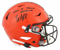 """Baker Mayfield Signed Browns Full-Size Authentic On-Field SpeedFlex Helmet Inscribed """"Woke Up Feeling Dangerous!"""" (Beckett COA) at PristineAuction.com"""