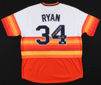 "Nolan Ryan Signed Astros Jersey Inscribed ""100.7 M.P.H. Fastball"" (PSA COA) at PristineAuction.com"