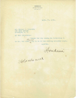 Harry Houdini Signed 1921 Letter (PSA LOA) at PristineAuction.com