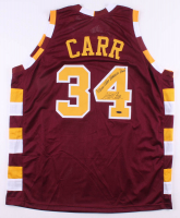 "Austin Carr Signed Jersey Inscribed ""Throw the Hammer Down"" (Playball Ink Hologram) at PristineAuction.com"