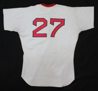 Carlton Fisk Signed Red Sox 1975 Game-Used Jersey (JSA LOA & Mears LOO) at PristineAuction.com