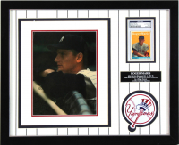 Roger Maris Signed 18x22 Custom Framed Photo & 1958 Topps #47 Roger Maris RC (JSA LOA & PSA Encapsulated) at PristineAuction.com