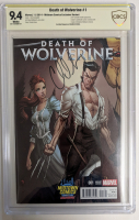 """Charles Soule Signed 2014 """"Death of Wolverine"""" Issue #1 J. Scott Campbell Variant Marvel Comic Book (CBCS 9.4) at PristineAuction.com"""