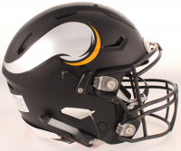 "Cris Carter Signed Vikings Full-Size Authentic On-Field Matte Black SpeedFlex Helmet Inscribed ""HOF 13"" (Beckett COA) at PristineAuction.com"