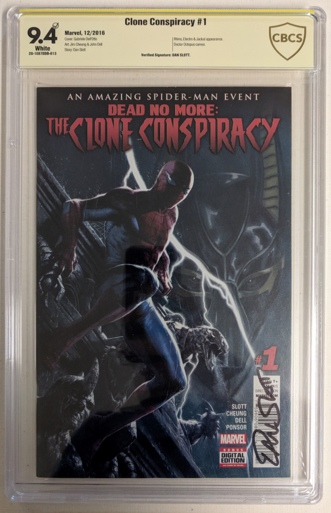 """Dan Slott Signed 2016 """"Clone Conspiracy"""" Issue #1 Marvel Comic Book (CBCS 9.4) at PristineAuction.com"""