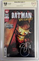 "Scott Snyder Signed 2019 ""The Batman Who Laughs"" Issue #1 DC Comic Book (CBCS 9.8) at PristineAuction.com"