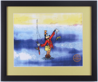 """Goofy """"How to Fish"""" 16x19 Custom Framed Animation Serigraph Display at PristineAuction.com"""