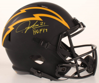 "LaDainian Tomlinson Signed Chargers Eclipse Alternate Full-Size Speed Helmet Inscribed ""HOF 17"" (Beckett COA) at PristineAuction.com"